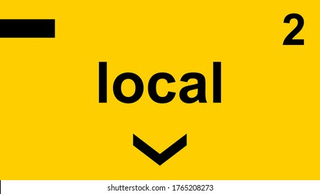 Supermarket and Grocery Store Isle Sticker Sign Local Section 2