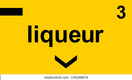 Supermarket and Grocery Store Isle Sticker Sign Liqueur Section 3