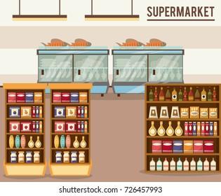 Supermarket sale stand
