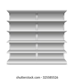 Supermarket shelf. Vector illustration