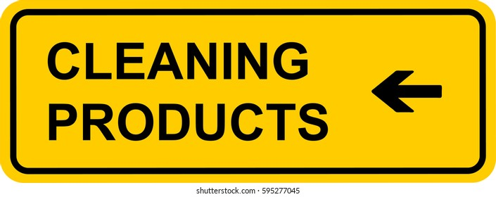 Supermarket sign cleaning products