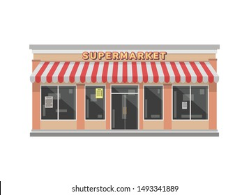 Supermarket store Building Illustration concept design