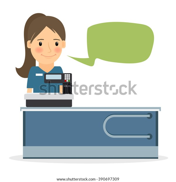 Sales Clerk Stock Vector - Image: 50959417