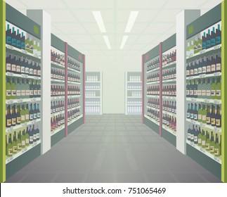 Supermarket wine aisle
