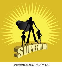 Supermom burst design. EPS 10 vector.