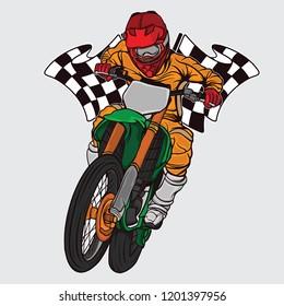 supermoto racing design logo, vector EPS 10