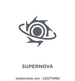 Supernova icon. Supernova design concept from Astronomy collection. Simple element vector illustration on white background.