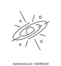 Supernova icon, space logo outline style