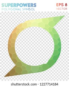 Superpowers polygonal symbol, beautiful mosaic style symbol. Delightful low poly style, modern design.