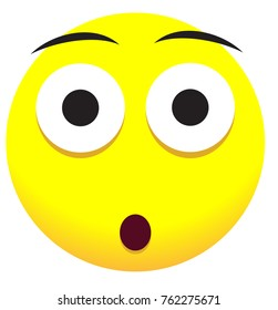 Supersize face icon with yellow emoji symbol