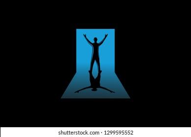 Superstar Man Logo Template Design Vector, Emblem, Design Concept, Creative Symbol, Icon