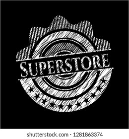 Superstore with chalkboard texture