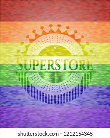 Superstore lgbt colors emblem