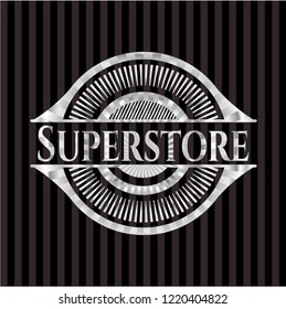 Superstore silver emblem or badge