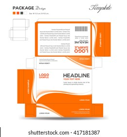 Supplements and Cosmetic box design, Package design, template, box outline, flyer design,vector illustration