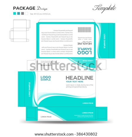 supplements cosmetic box design package design templatebox stock