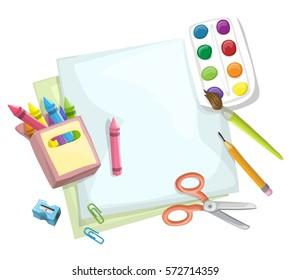 Supplies for art class