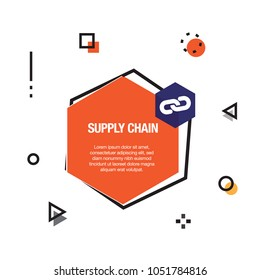 Supply Chain Infographic Icon