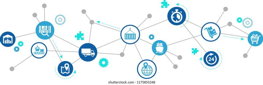 supply chain management concept - vector illustration