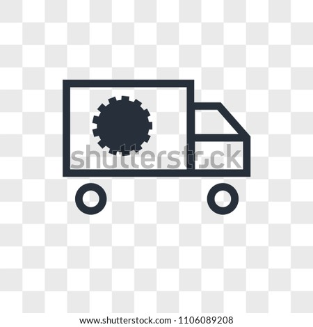 Supply Chain Vector Icon Isolated On Stock Vector Royalty Free