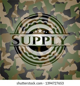 Supply on camo pattern. Vector Illustration. Detailed.