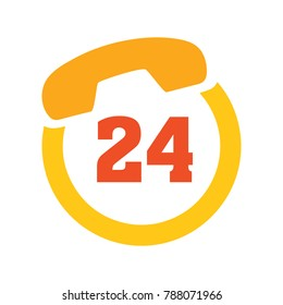 support 24/7 icon - customer service