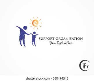 support, help care,charity,children logo