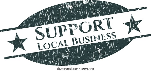 Support Local Business grunge stamp