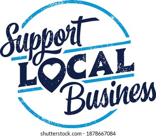 Support Local Businesses Vintage Stamp