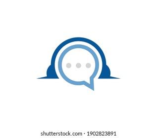 Support logo vector headphones icon