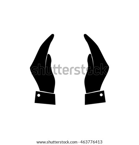 supporting hands icon stock vector royalty free 463776413