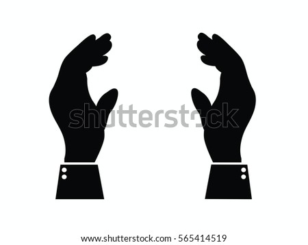 supporting hands illustration stock vector royalty free 565414519