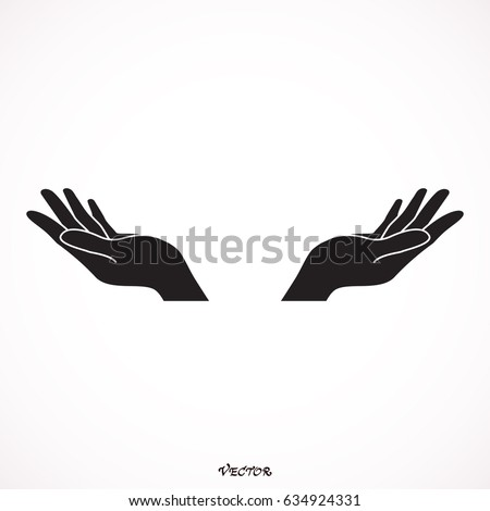 supporting hands illustration stock vector royalty free 634924331