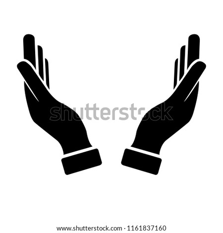 supporting hands vector illustration stock vector royalty free