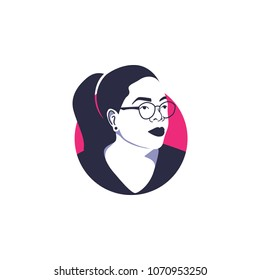Surabaya, 15 April 2018, Oprah Winfrey as known as great motivator, celebrity mc talk show in vector illustration