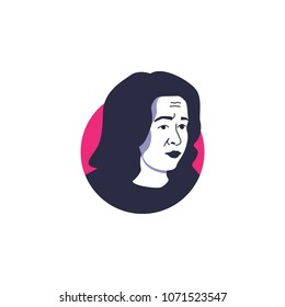 Surabaya, 18 April 2018, Michelle Obama, wife of Barrack Obama, as known as woman motivator, smart and kind person, in vector illustration