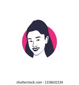 Surabaya, 18 August 2018, Ariana Grande vector illustration isolated