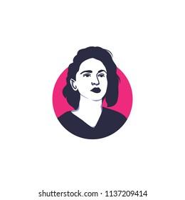 Surabaya, 18 July 2018, Madonna face vector illustration isolated