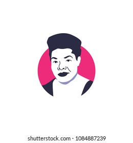 Surabaya, 7 May 2018, Maya Angelou vector illustration face
