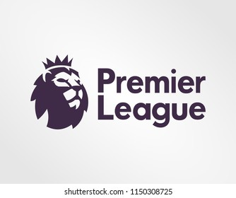 Surabaya Indonesia, August 2018: logo sign template vector Premier League top level of the English football league