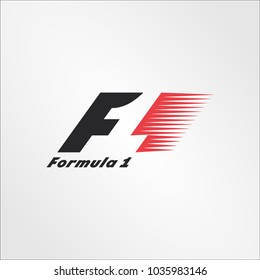 "Surabaya Indonesia, Mar 2018: the logo of the brand ""Formula one f1"" vector template"