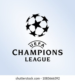 Surabaya Indonesia, May 2018: UEFA Champions League  continental club football competition organised by the Union of European Football logo vector template