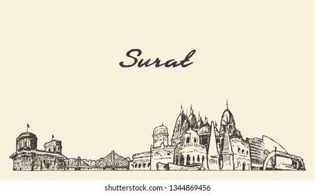 Surat India Stock Vectors Images Vector Art Shutterstock