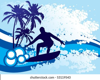 Surf background vector