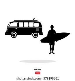 surf bus. surfer
