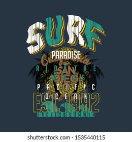 surf rider graphic design vector t shirt
