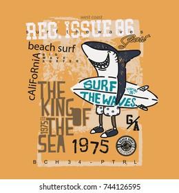 Surf Shark T Shirt
