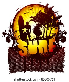 surf shield with famous rider