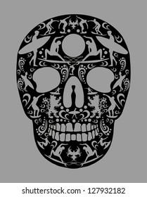 surf skull vector art