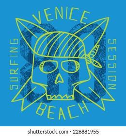 Surf skull vectors, t-shirt graphics
